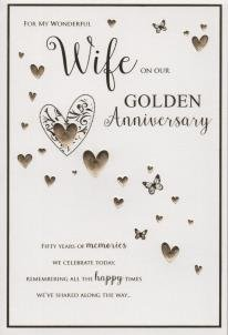 For My Wife On Our Golden Anniversary 50 Years