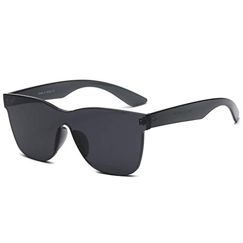 Junecat Frauen Frameless Conjoined Süßigkeit-Farben-Sonnenbrille UV400 PC Rahmen Harz Objektiv Brillen Strand Driving Sun Glasses