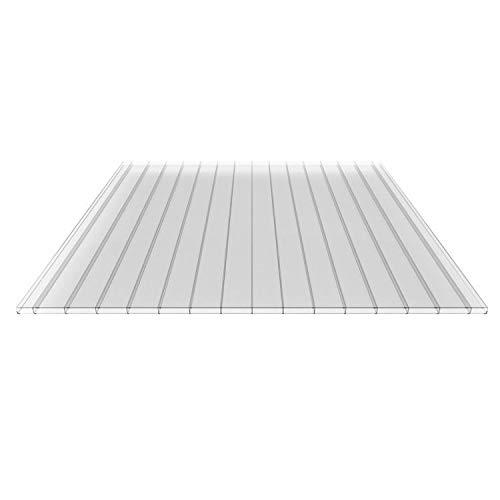 Stegplatte   Hohlkammerplatte   Doppelstegplatte   Material Polycarbonat   Breite 980 mm   Stärke 16 mm   Farbe Glasklar   Breitkammer
