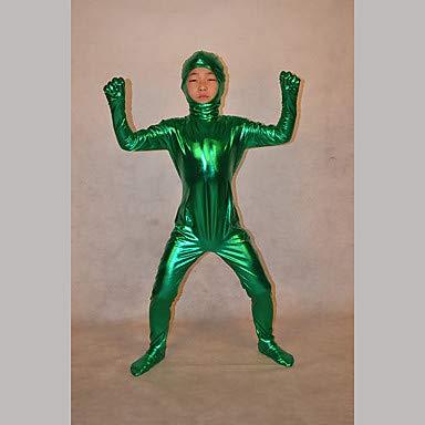 HAOBAO Zentai Anzüge Ninja Fest/Feiertage Halloween Kostüme Grün einfarbig Zentai Kostüme Kind, (Kinder Schädel Ninja Kostüm)