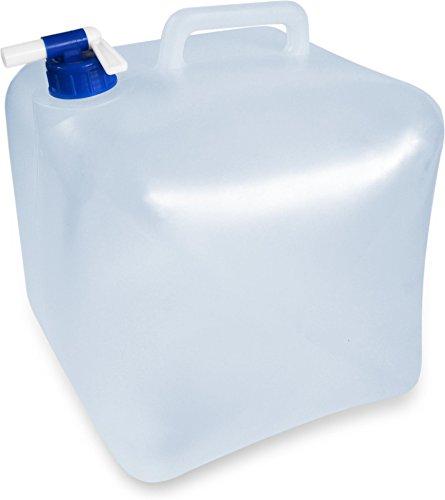Faltbarer Falteimer Wasserkanister mit Hahn in verschiedenen Größen Farbe 10 Liter Größe Transparent