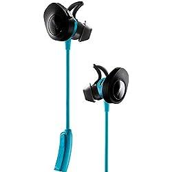 1 de Bose SoundSport - Auriculares inalámbricos (Bluetooth, NFC, micrófono), color azul