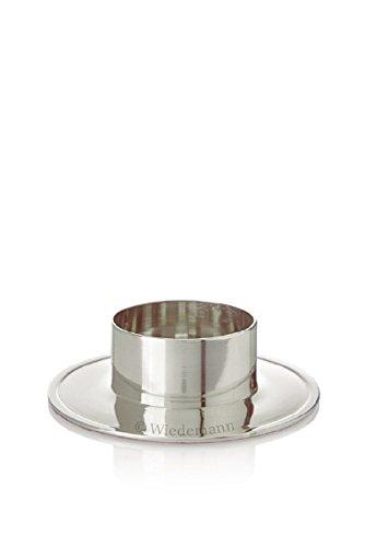 Kerzenhalter Aluminium Silber poliert Ø 80 mm poliert für Altarkerzen, Anlasskerzen, Taufkerzen, Kommunionkerze, Hochzeitskerze