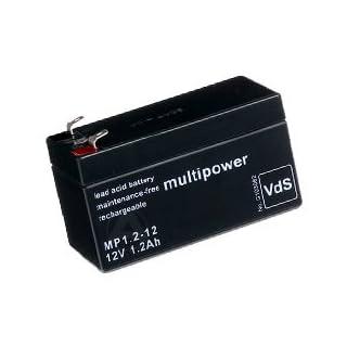 Multipower MP1.2-12 Blei Akku, 4,8mm Faston Stecker
