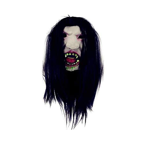 TYUBN Halloween Realistische Scary erschreckende Horrible Creepy Weibliche Geistermaske Party Requisiten Maskerade Supplies Cosplay - Weibliche Dead Clown Kostüm