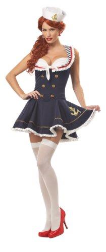 Billig Seemann Kostüm - JADEO Kostüm Matrosin für Damen S