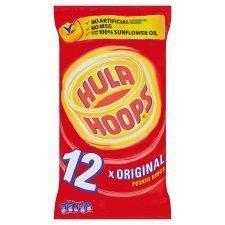 KP Hula Hoops Original Snacks 12 X 25G