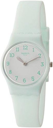 Swatch Damen Analog Quarz Uhr mit Silikon Armband LG129