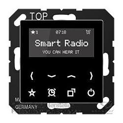 Jung Smart Radio Serie A Schwarz, 1 Stück, Rad A 508 Sw