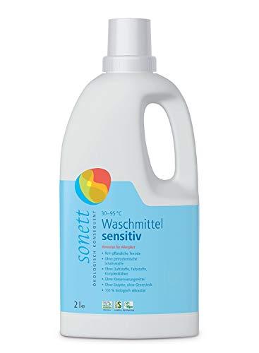 Waschmittel Sensitiv: 100{9d6ab65dc195b4fc5bc8e374625b3e5a0b5e4fa73b2854bcdfadf6a38b7e9ca6} biologisch abbaubar