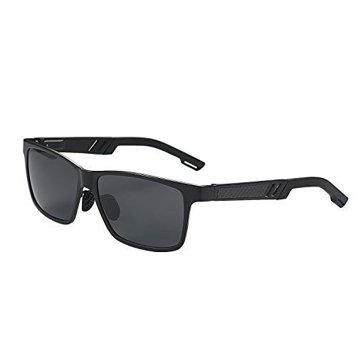 Aroncent Polarisierte Sonnenbrille, Radbrille UV 400 Fahrradbrille Unisex Sportbrille Outdoor Aluminium Magnesium Schutzbrille