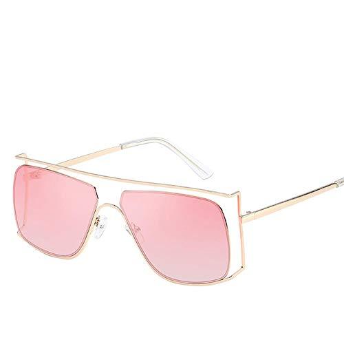 Drawihi Stilvolle Sonnenbrille Unregelmäßige Hohle Polarisierte Sonnenbrillen Gläser Sportbrillen UV400 Schutzbrille Brille für Reise Sport im Freien für Herren Damen Unisex (Rosa Linse)