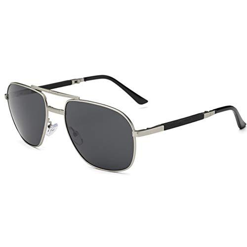 WFOYZNZ Dame Sonnenbrille Folding Aviator Sonnenbrille Männer Polarisierte Mode Retro Folding Sonnenbrille Männer
