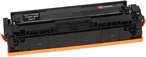 INK INSPIRATION® Schwarz Premium Toner kompatibel für HP 203X CF540X Color Laserjet Pro M254dw M254nw MFP M280nw M281fdn M281fdw | 3.200 Seiten -