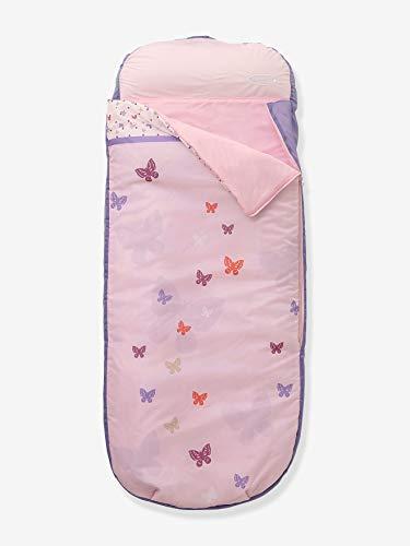 Vertbaudet Saco de Dormir con Colchón Integrado para Niña Rosa Claro Liso con...