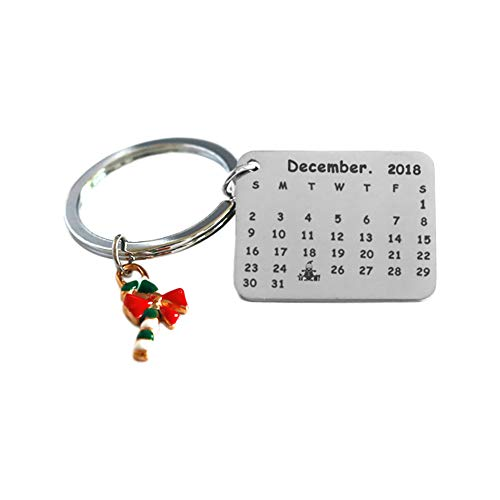 (Zedo 1 Stück Keychain Weihnachten Halloween Anhänger Alloy Schlüsselbund Krücken Deko Auto Rucksack Mode Zubehör Schlüsselbund Unisex Partyzubehör)
