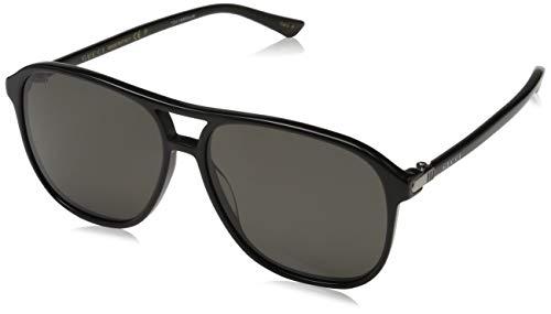 Gucci Herren GG0016S-006 Sonnenbrille, Schwarz (Negro), 58