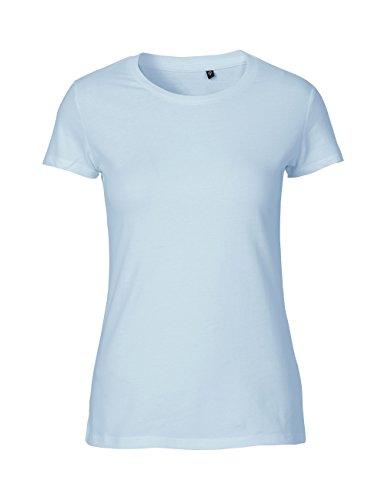 -Green Cat- Ladies Fitted T-shirt, 100% Bio-Baumwolle. Fairtrade, Oeko-Tex und Ecolabel zertifiziert, Textilfarbe: hellblau, Gr.: S (Bio-baumwolle 100% Shirt)