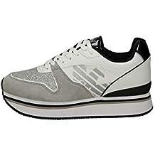 78d36eaa13268 Emporio Armani Sneakers Donna Bianche Grigie X3X046-XL214 Autunno Inverno
