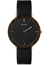 Reloj MAM para Mujer con Correa Negra, Esfera Negra.621-000070