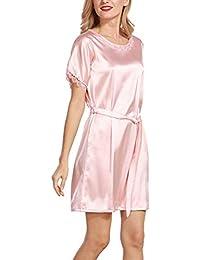 Señoras Camisón Elegante Moda Manga Redondo Cuello Corta Suelto Cómodo Pijama Negligee Ropa Interior Modernas Casual