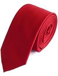 Étroit Cravate de Fabio Farini en rouge 6cm Largeur