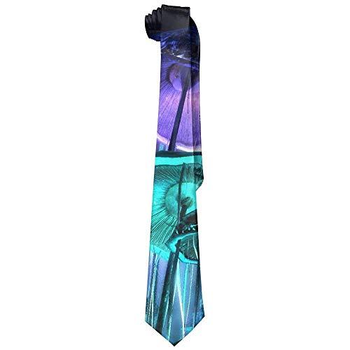 Mushroom Demon Men's Classic Polyester Solid Silk Tie Necktie