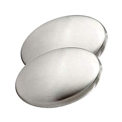 Edelstahl-Ovalform Chefseife desodoriert den Geruch von den Händen Magie, die den Knoblauch- / Zwiebelgeruch beseitigt Elliptisch Edelstahl-Deodorant-Seife desodoriert die Handseife