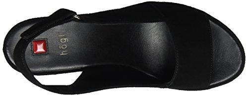 Högl 3- 10 3412, Sandali con Piattaforma Donna Nero (Schwarz0100)