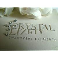 SWAROVSKI - Confezione da 100 cristalli, ss8, 2028, colore: trasparente, 2,4 mm, fissaggio a caldo - Swarovski 2028 Hot Fix