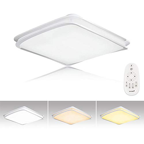 Hengda® 64W LED Lámpara de techo Moderna Regulable Luz De Techo Ultradelgado Ahorro Lámpara para sala de estar/Dormitorio/Baño/Cocina/Vestíbulo [Clase de eficiencia energética A++]