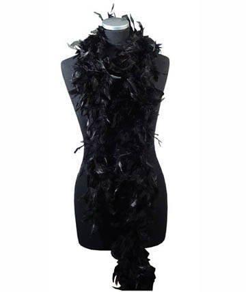 Feather Boa, 180cm, Black, dressing-up, Carnival (Kostüm)