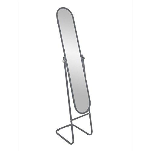 Miroir sur pied/à bascule - grand format - argenté