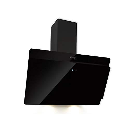 Klarstein Aurica 90 Dunstabzugshaube - Wandabzugshaube, Abzugshaube zum Wandanbau, 90 cm, 165 W, 620 m³/h Abluftleistung, 3 Leistungsstufen, zuschaltbares Licht, inkl. Montagematerial, schwarz