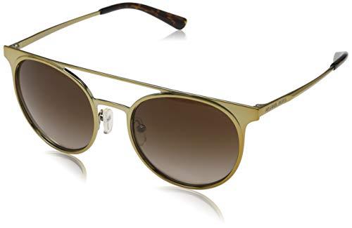 Michael kors grayton 116813 52 occhiali da sole, oro (shiny pale gold-tone/darkbrowngradient), donna