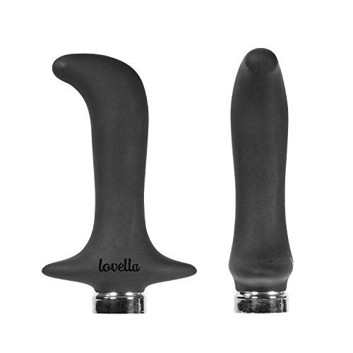 Prostata Vibrator Schwarz, 10 Vibrationsmodi, Wiederaufladbar, Silikon, für Männer - Lovella