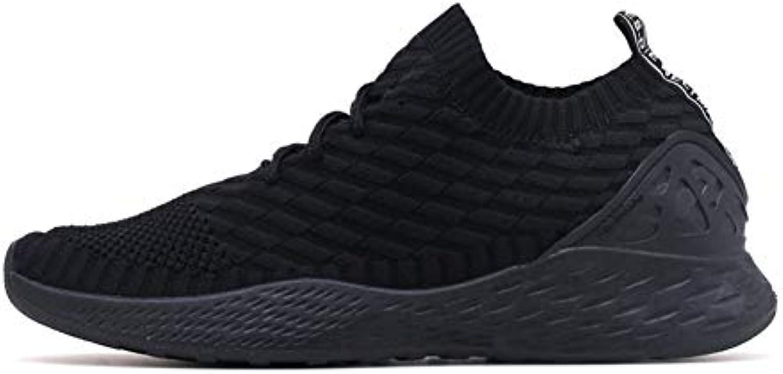 HCMONSTER Baskets Hommes Respirant Sneakers Chaussures Hommes Adulte Rouge Noir Confortable... Gris Haute Qualité Confortable... Noir 5b07e4