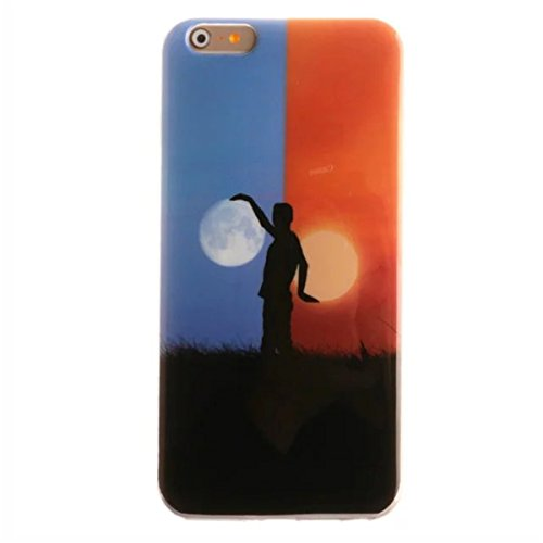 iPhone 6S Plus Hülle Case,iPhone 6 Plus Hülle Case,Gift_Source [Slim Thin] [Drop Protection] Premium Flexible Soft TPU Hülle Case Fashion Silicone Slim Hülle Case Cover für Apple iPhone 6s Plus / 6 Pl E01-17-Sun and moon