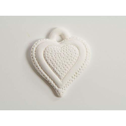24x gessetto a forma di cuore 3.5 x 4 cm decorazione bomboniera