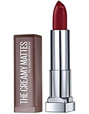 Maybelline New York Color Sensational Creamy Matte Lipstick, 695 Divine Wine, 3.9g
