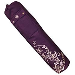 Yoga-Mad Wildflower -Bolsa para esterilla de yoga (63 x 14,5 cm), diseño floral Grape