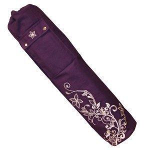 Yoga-mad Sac pour tapis de yoga 63 x 14,5 cm Motif à fleurs