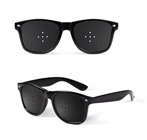 ZENGZHIJIE Unisex Sehkraft Vision Pflege Vision Verbessern Lochblende Brille Augen Übung Mode Natürlich (Color : Black)