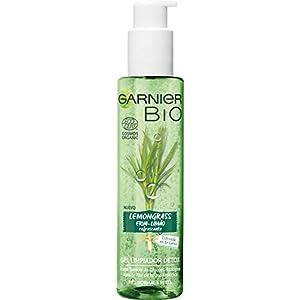 Garnier Bio, Gel Limpiador Détox Lemongrass con Aceite Esencial de Citrinola Ecológico y Glicerina, Atrapa la Suciedad…