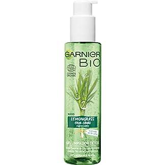 Garnier BIO Gel Limpiador Detox Lemongrass con Agua de Flor de Aciano Ecológica – Pack de 2 x 150 ml = 300ml