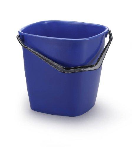 Durable 1809414 Bucket Seau de Forme Carrée avec Anse - Contenance 14 litres Plastique Bleu