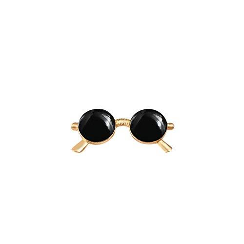 NSXZ Brosche Retro süße Schwarze Sonnenbrille Brosche Revers Pin Anzug Shirt Emaille Stifte Mode Denim Kleidung Accessoires Hochzeit