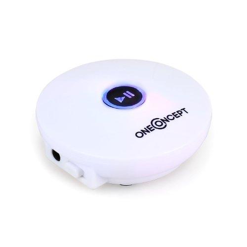 oneConcept SmartTooth2 • Universal Bluetooth-Adapter • BT-Musikempfänger • kabellos streamen • für Kompaktanlagen • Radios • Boombox • 15 m Reichweite • iOS • Android • PC • Tablet • weiß