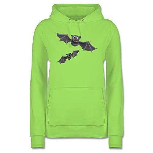 Shirtracer Halloween - süße Fledermäuse - XL - Limonengrün - JH001F - Damen Hoodie