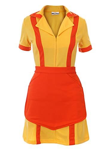 CoolChange 2 Broke Girls Kostüm Diner Uniform mit Schürze, Größe: XL